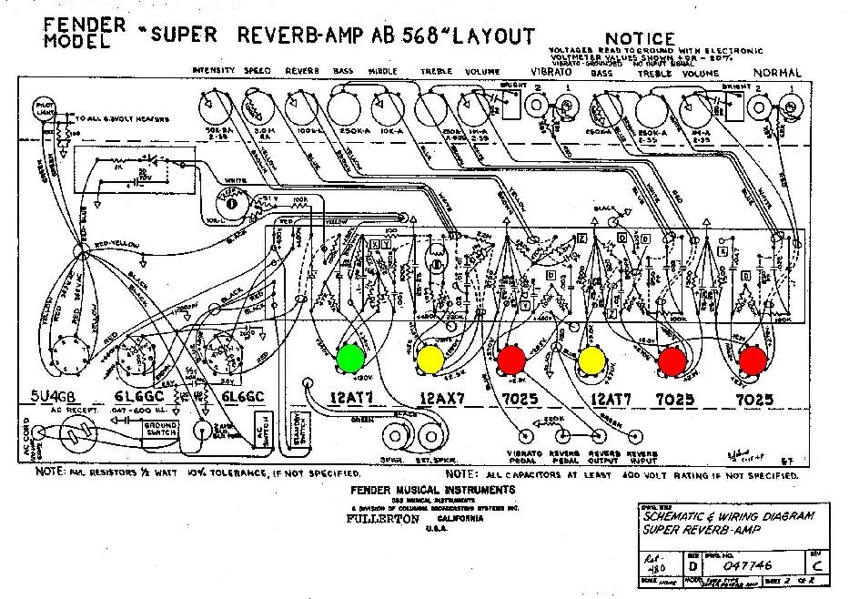 Fender Super Reverb Preamp Tubes AB568